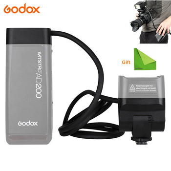 Godox EC200 200W Extension Flash Head for Godox AD200 Flashpoint 1.85m Long Extend Cable with AD200 Bare Bulbs Speedlite Head