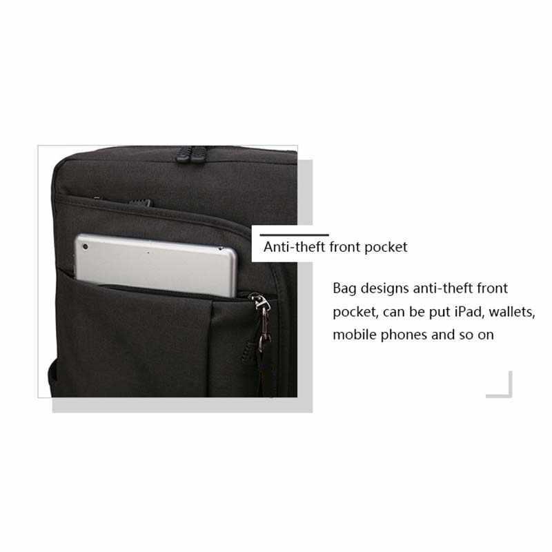 Baijiwei bolso de ordenador para hombre, bolso de hombro de 15,6 pulgadas, mochila de negocios impermeable, mochila para estudiantes universitarios, mochila de viaje