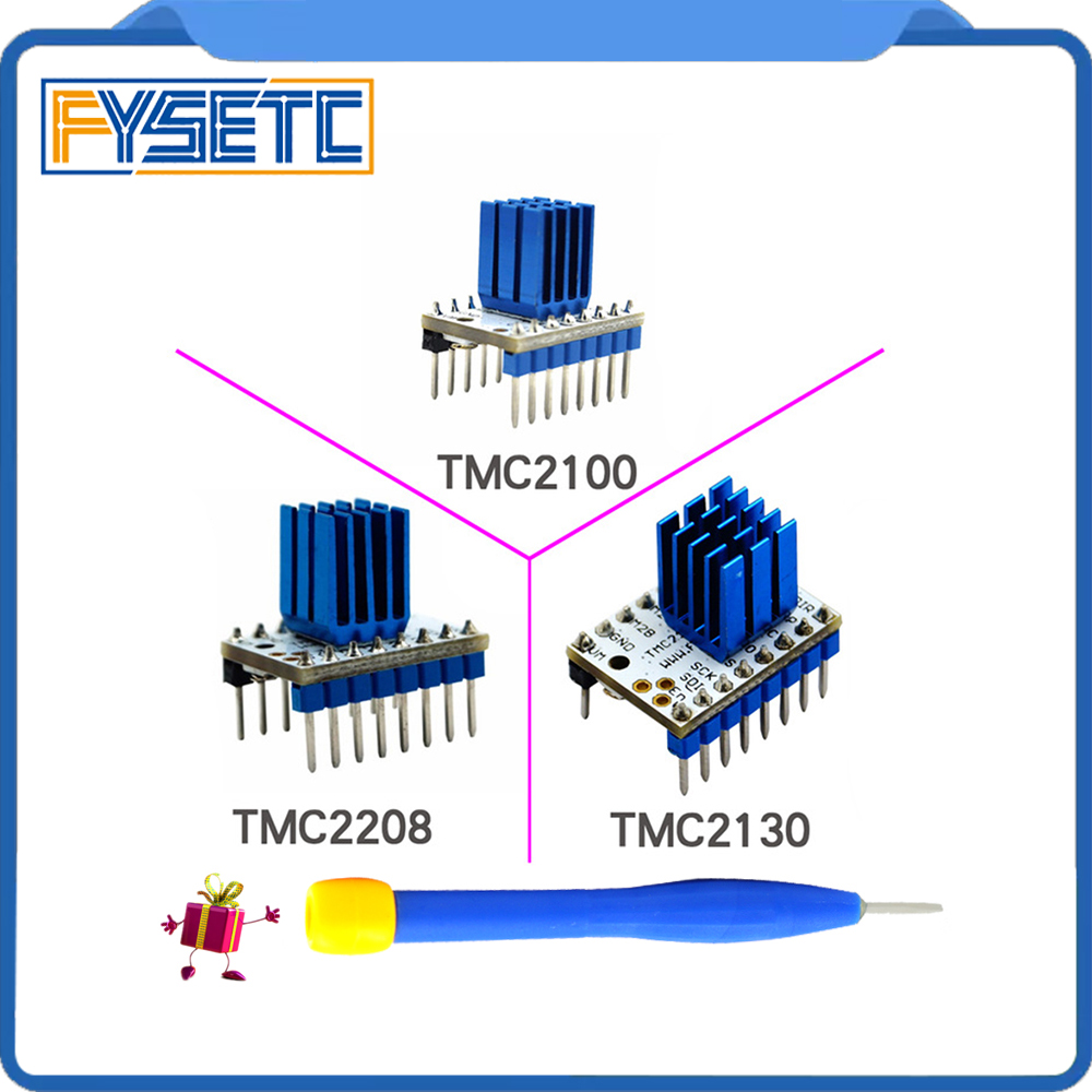 5PCS TMC2100 V1.3 TMC2130 TMC2208 Stepper Motor StepStick Mute Driver Silent Excellent Stability Protection For 3d Printer Parts for 3d printer part mks base2 v1 2 good for metal chassis preset sd card slot perfect anti interference excellent stability