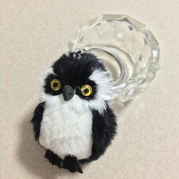 New Fashion Cute Owl Plush Toy Key Chain Ring Faux Rex Rabbit Fur Keychain Woman Bag Charms Man Car Keyring Wedding Party Gift