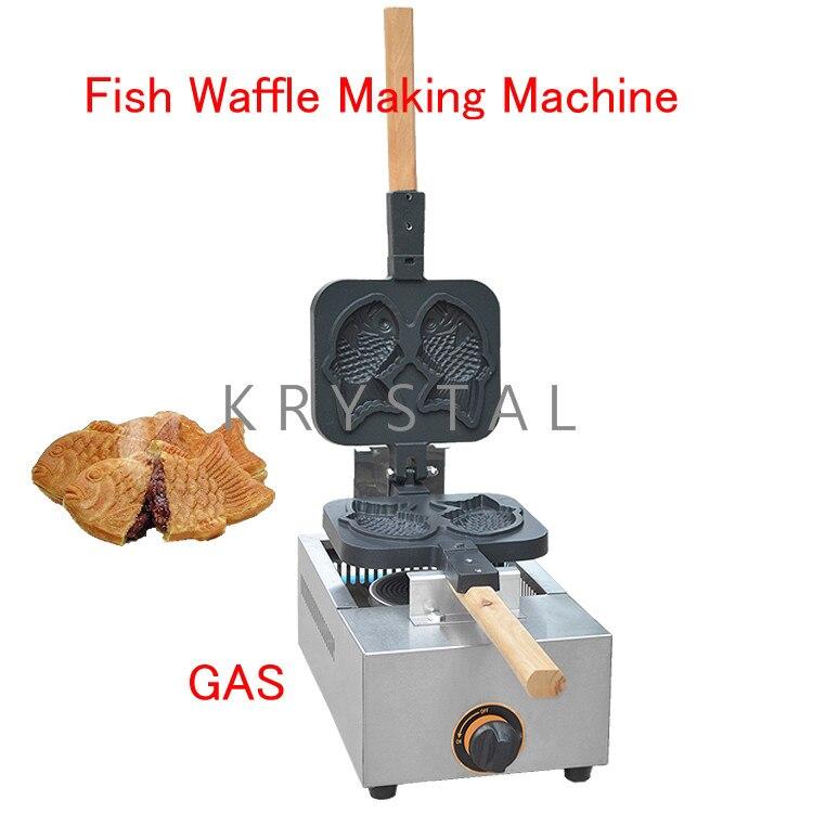 Fish Waffle Making Machine Taiyaki Baker Mini Household Donut Maker Fish cake pancake machine FY-1105.R high quality automatic gas taiyaki fish cake making machines