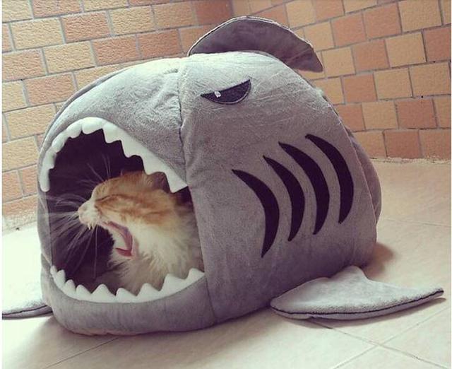 Aliexpresscom Buy Pet Products Warm Soft Cat House Pet Sleeping - Sleeping bag shark