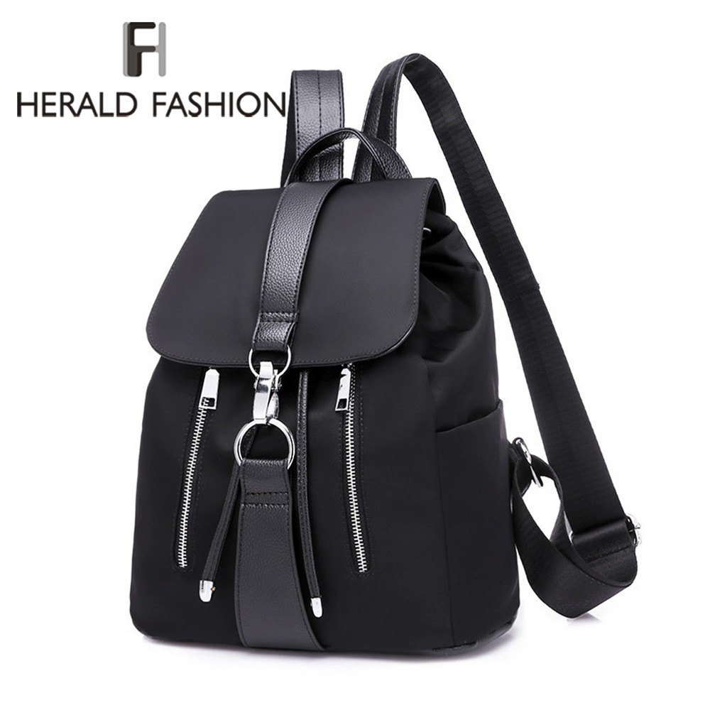 Herald Fashion Women Backpack Nylon Backpack For Teenage Girls Casual School Daypack Large Capacity Shoulder Bags Female Mochila