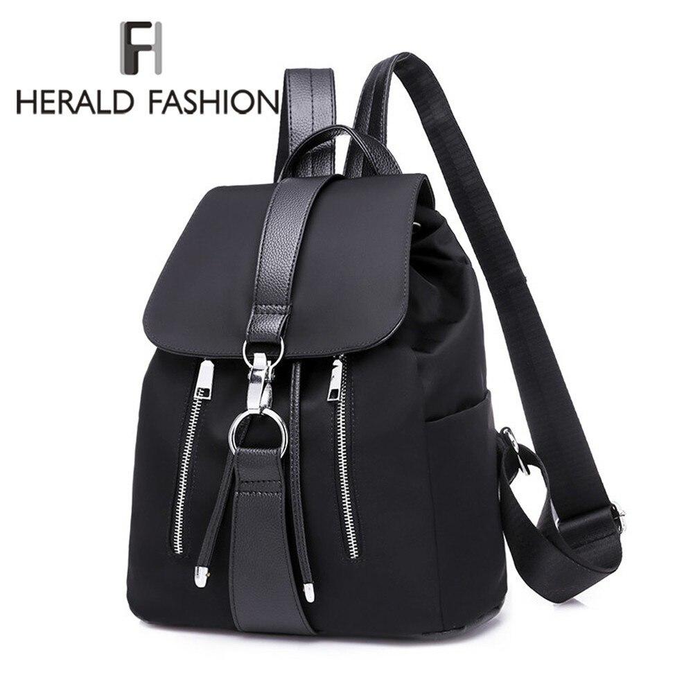 Herald Fashion Women Backpack Nylon Backpack For Teenage Girls Casual School Daypack Large Capacity Shoulder Bags Female Mochila
