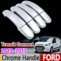 For Ford Transit Connect 2013 2017 MK2 Chrome Handle Cover Trim Set Wagon 2014 2015 2016