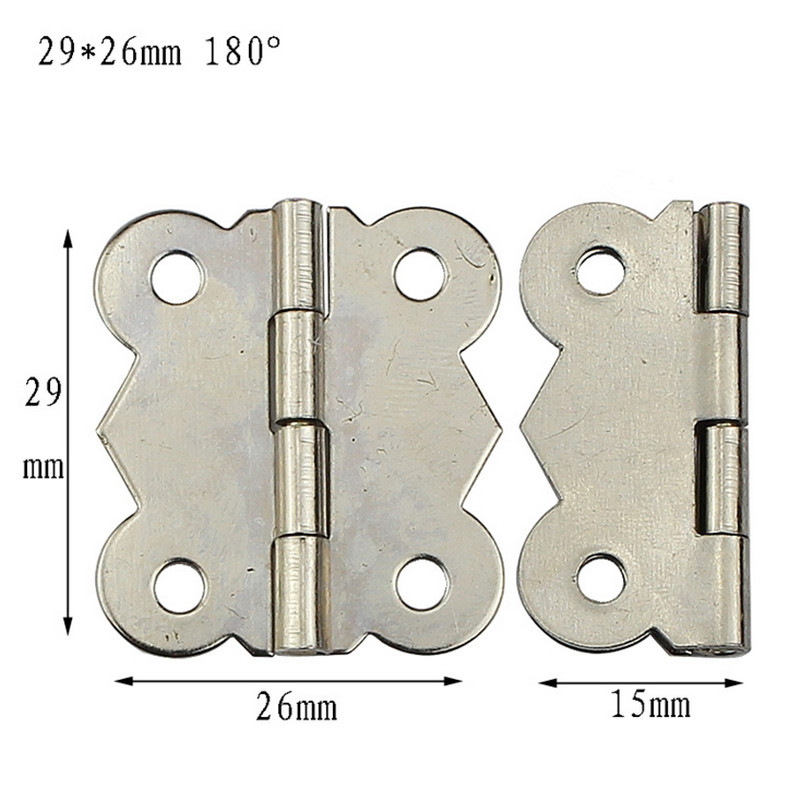 10pcs White 180 degrees Small butterfly hinges Furniture hinge 29*26mm Archaize Cabinet hardware fittings Lace hinges 4 hole 2pcs set stainless steel 90 degree self closing cabinet closet door hinges home roomfurniture hardware accessories supply