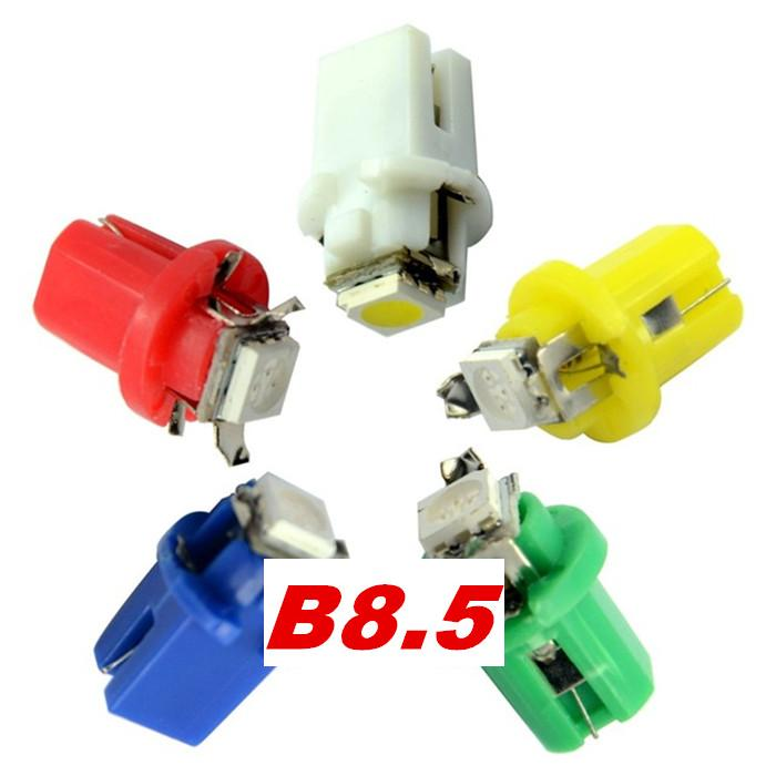 10Pcs B8 5 Car LED 8MM 1 2W 50lm 6500K 5050 SMD red Light Car Dash Board Instrument Lamp DC 12V in Signal Lamp from Automobiles Motorcycles