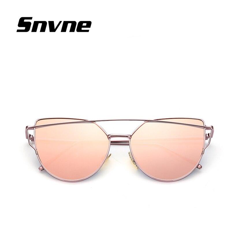 Snvne occhiali da Sole del metallo di Modo cat eyes occhiali da sole per uomo donna classic specchio oculos gafas de sol masculino soleil