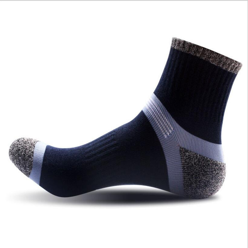 CHENGHENG 12 Pairs / Bag New Hot Summer Mens Cotton Socks Fashion Stitching Pattern Tube Socks 3 Styles Casual Socks