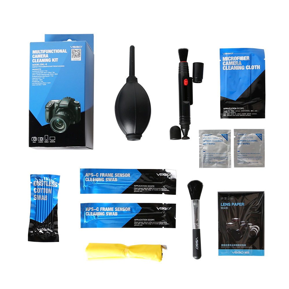 9 in 1 VSGO Camera Cleaning KIt DKL 6 for Nikon Canon Sony Fujifilm Hasselblad Cameras