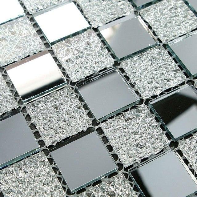 Us 186 89 Mirrored Silver Mosaic Tile Mesh Mounted Silver Mirror Glass Tile Kitchen Backspalsh Bathroom Wall Tiles Mirror Tiles Ideas Di Dari