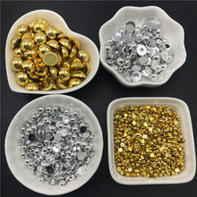3 4 6 8 10 12mm ABS Gold Silver Half Round Pearl Bead Flat Back Scrapbook Beads For Jewelry Making DIY Phone Case Scrapbook cheap Fashion 3mm 4mm 6mm 8mm 10mm 12mm Acrylic LXBENING 10~20g Round Shape Golden Silver Half Round Bead 600pcs 400pcs 100pcs