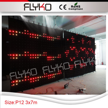 120mm Pixel PC Contrôleur De Haute Qualité Led équipement De Fête à Vendre Dj Stand Table Led Rideau Vidéo