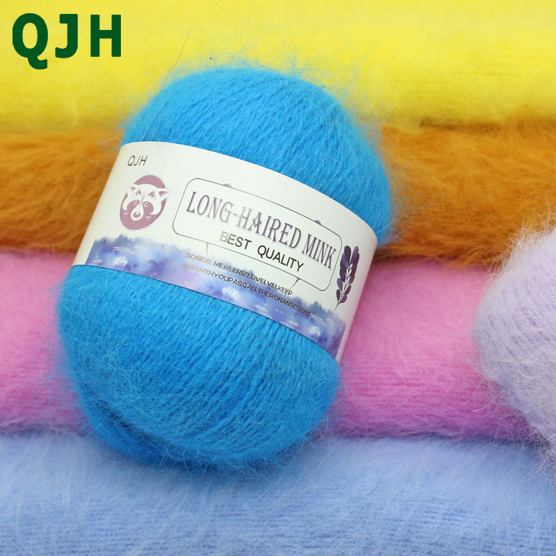 500g (10 boules) meilleure qualité doux vison velours laine fil à tricoter à la main fil chaud Long en peluche cachemire Crochet fil pour bricolage tissage-in Fil from Maison & Animalerie    1