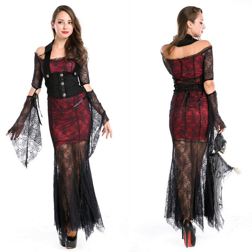 f2dea6530 Halloween Costumes for women Vampire Devil Maleficent Witch cosplay Costume  girls clothes sexy party Gothic dresses