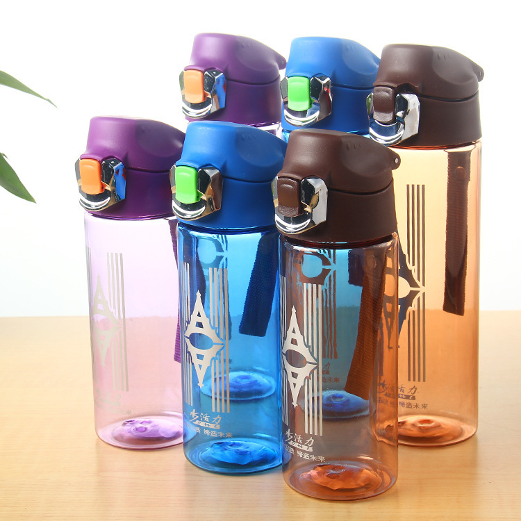 Environment-friendly Space Cup Portable Sports Outdoor Water Bottle With Automatic PC Turning Cover of Iron-nail Soldie(China)