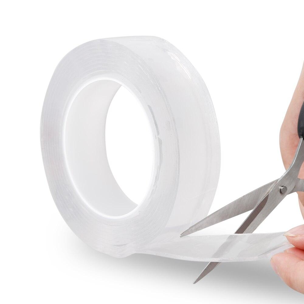 A fita mágica sem emenda nano dez mil vezes a fita impermeável transparente da etiqueta pode ser reutilizada 600 vezes
