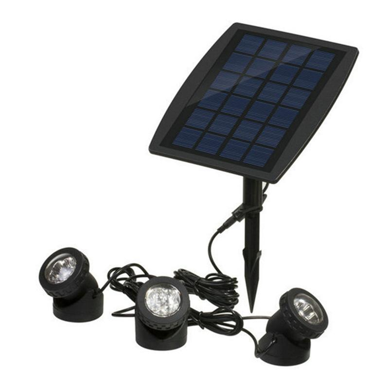 3 Head 18 Led Solar Powered LED Waterproof Garden Lights Outdoor LED Flood Light Pathway Lights Driveway Landscape Lights waterproof solar powered led disk lights set of 4 outdoor garden stair lights as seen on tv furniture accessories