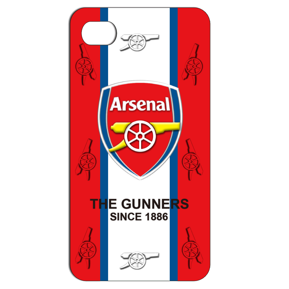 Phone Case For iPhone 4 4S 5 5S 5C 6 6 Plus Transparent The Red Arsenal Design Phone Back Cover Hard Plastic Protective Bags