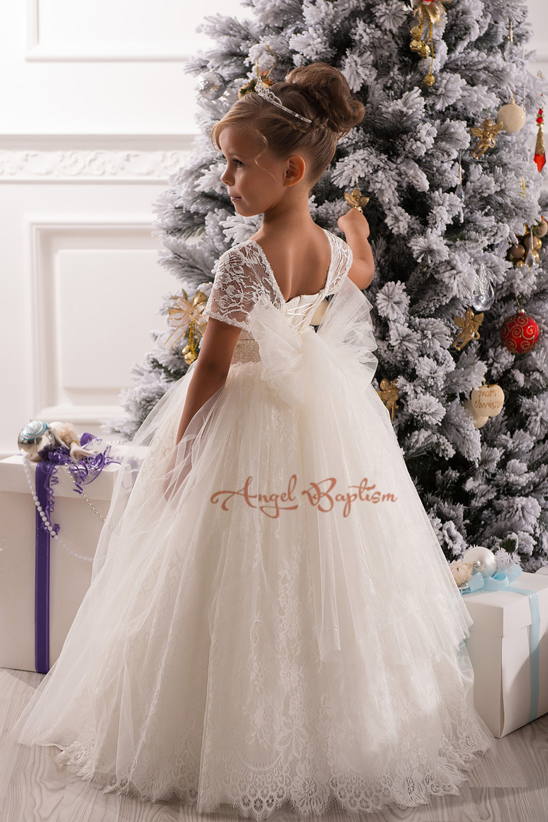 2016 Flower Girl Dresses 1-12 years Ball Gowns first communion dresses for girls pageant dresses  junior kid glitz 2016 lace flower girl dresses 1 12 junior kid glitz years ball gowns the first communion dresses for girls pageant dresses