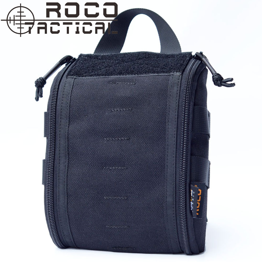 ROCOTACTICAL Outdoor Emergency Military Medical Bag Molle EMT Tactical Medic Pack First Aid Pouch Bag of Cordura 1000D Nylon