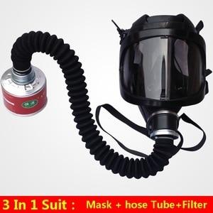 Image 3 - חדש ריסוס Respirator גדול ראיית מלא פנים גז מסכת תעשיית בטיחות עבודה מקצועית הגנת הנשמה מסיכת גז