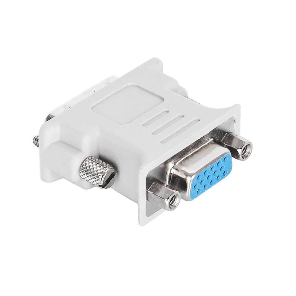 Perlinta DVI to VGA adapter DVI 24 +5 to VGA Male To Female Converter Adapter for PC Laptop