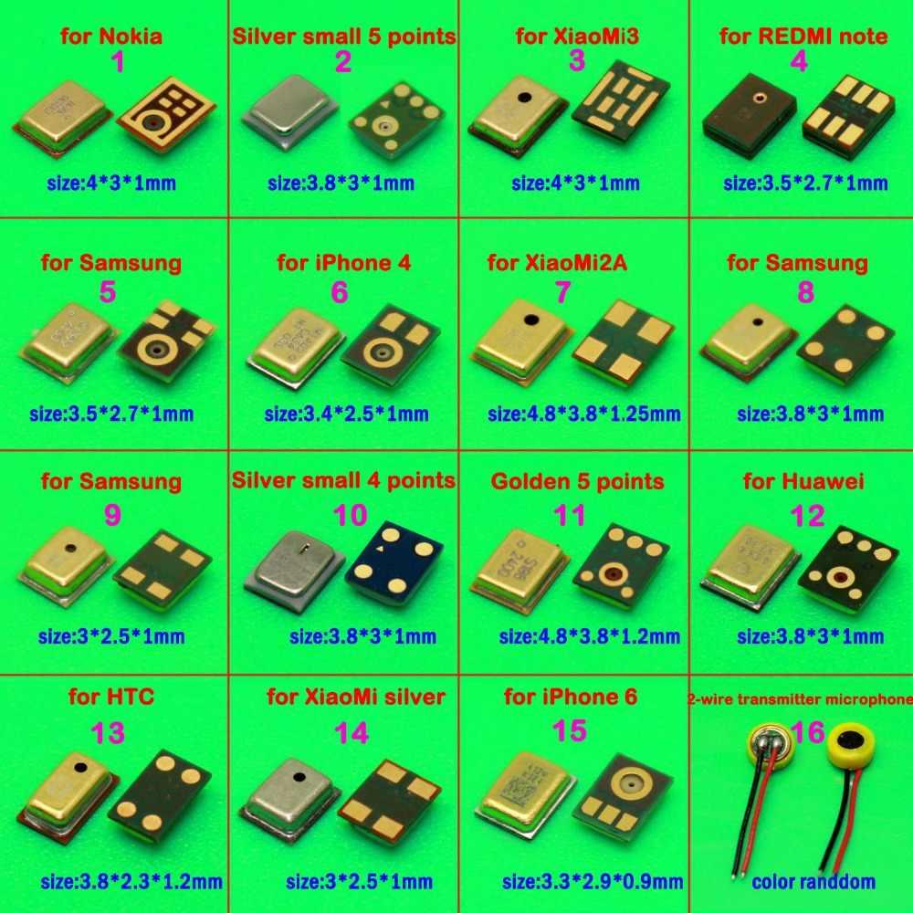 16 modelleri 1 adet mikrofon iç MIC onarım bölümü için Huawei Xiaomi Lenovo ASUS Motorola Moto G2 G3 G4 G5 x2 X + 1 X oyun G4 artı