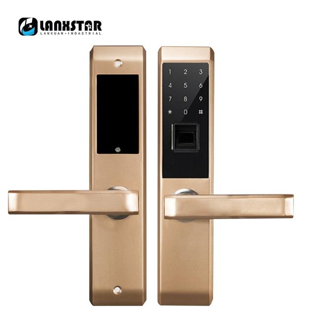 US $164 71 15% OFF|Anti theft Security Door Wooden Doors Universal  Intelligent Lock Fingerprint Password RFID Cards APP Keys Multi Door Smart  Lock-in