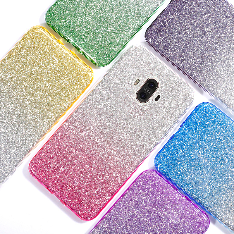 OLOEY for Huawei Mate 10 Cover Case Ultra Thin Luxury Gradient Glitter Bling Soft TPU Silicone Coque for Funda Huawei Mate 10