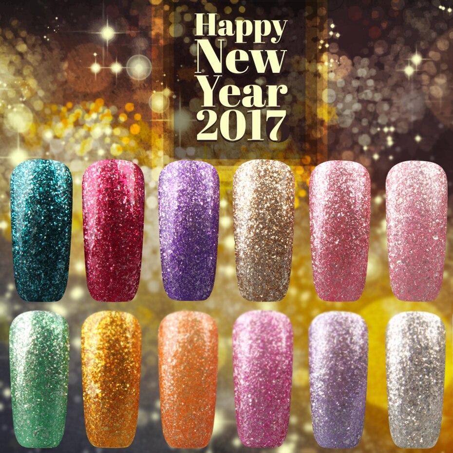 2017 НОВЫЙ 1 шт. 7 мл 3D Блеск Платины UV LED Гель Лак Для Ногтей Полу Постоянный Красочные Сияющий Soak Off гель Лак