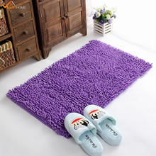 40*60CM Microfiber Bath Mat Chenille Luxury Bathroom Rugs Carpet Non Slip Bathroom  Mats Soft