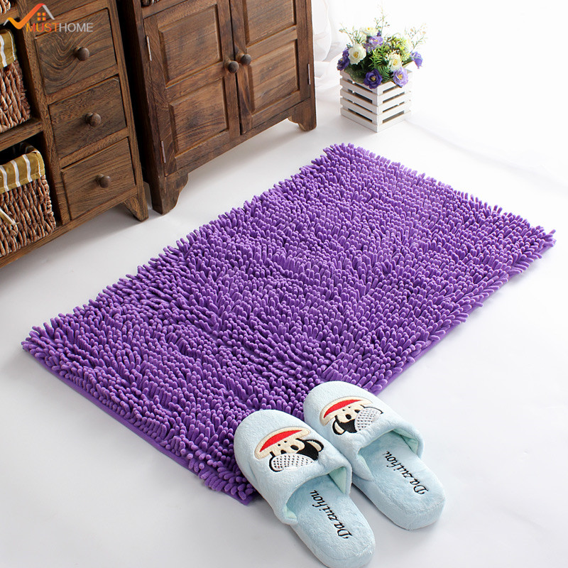 4060cm microfiber bath mat chenille luxury bathroom rugs carpet non slip bathroom mats soft