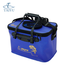 2 Colour Big Folding Live Fish BOX Plastic Carp Rod Bucket Water Tank with Handle Bags Fishing Tackle Accessories