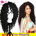 Synthetic Lace Front Wigs With Baby Hair Long Curly Synthetic Black Wig Heat Resistant Synthetic Lace Front Wigs For Black Woman