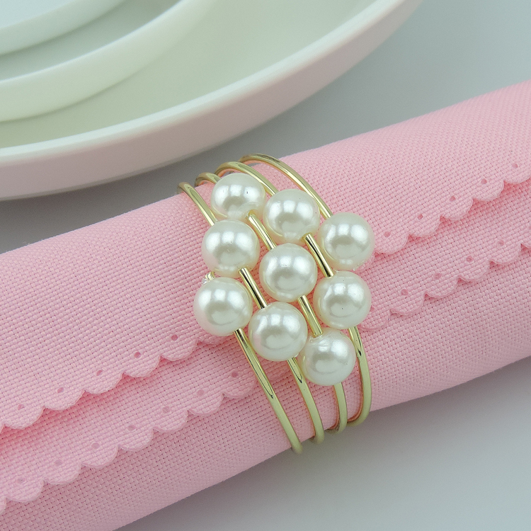 2015 pearls metal napkin rings hotel wedding supplies table 2015 pearls metal napkin rings hotel wedding supplies table decoration accessories wholesale free shipping in napkin rings from home garden on junglespirit Images