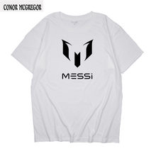 T-shirt 2018 summer brand 100% cotton Barcelona MESSI Men t-shirt tops Man casual short sleeve t shirts Plus Size S M L XL(China)