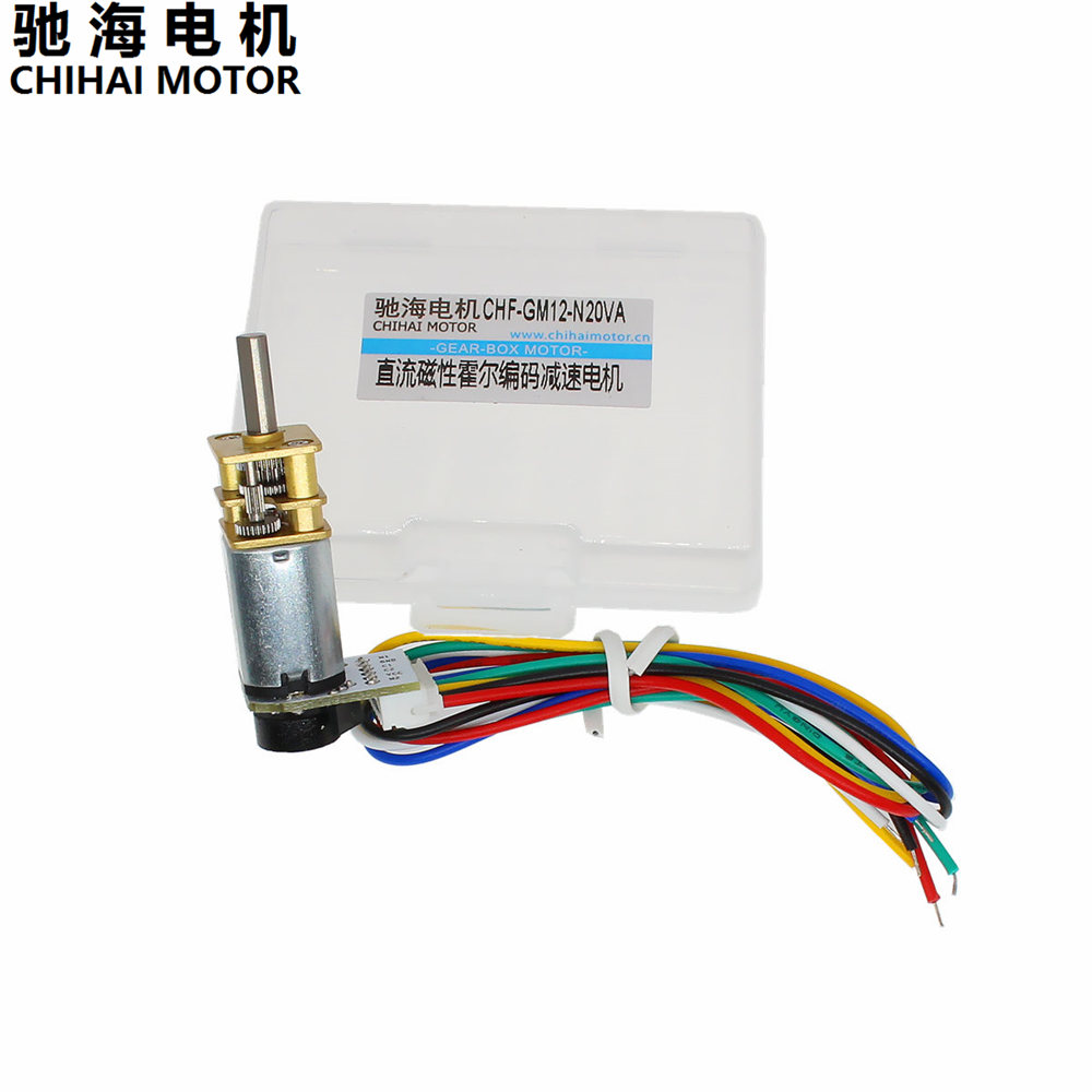 Chihai Motor CHF-GM12-N20VA 3V 6V Dc Gear Motor With Encoder Speed Velocity Measurement FOR Mini Car Balance Motor Encoder DIY chihai motor sintered ndfeb 460 speed upgrade kinetic energy motor m4a1 diy mini gun model for collection metal alloy gun