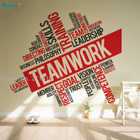Word Vinyl Wall Sticker Office Inspirational Teamwork Art Decoration For Living Room Company Hall Self adhesive Murals YT529