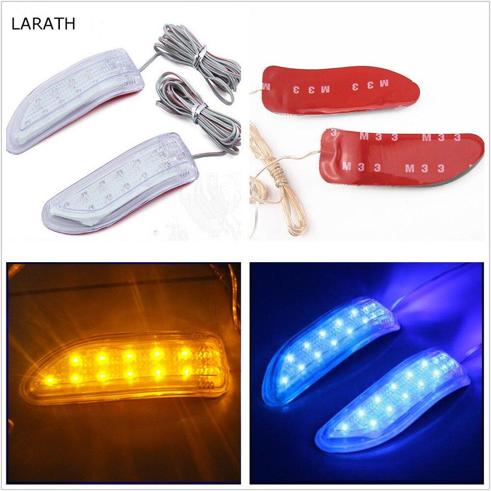 Новый Универсальный LED автомобиля автомобиля сигнала поворота полосы огни с Анти-столкновения пластиковый сигнала поворота Сид 2016