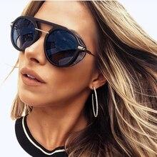 JackJad New Fashion Vintage SteamPunk Style Side Shield Sunglasses