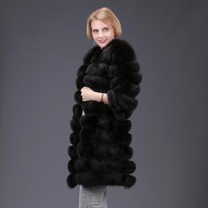 Image 2 - 여자의 새로운 천연 여우 모피 코트 분리형 모피 자켓 다기능 3 에서 하나의 가변 의류 따뜻한 패션 캐주얼 Eu