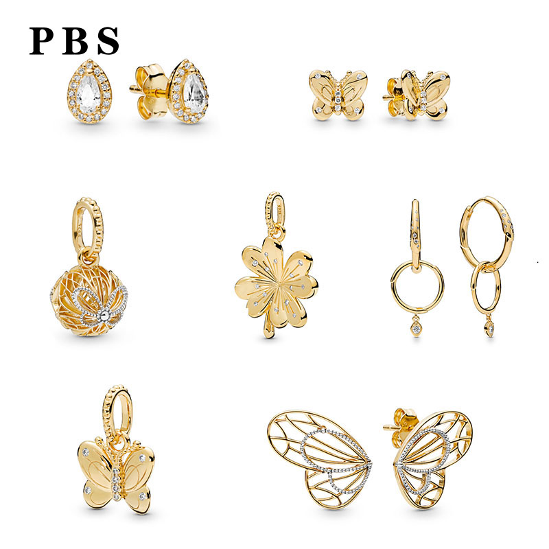 PBS 100% Pure Silver Original Copy High Quality 1:1 2019 Latest Spring New Gold-plated Rose Logo Free Wholesale ManufacturersPBS 100% Pure Silver Original Copy High Quality 1:1 2019 Latest Spring New Gold-plated Rose Logo Free Wholesale Manufacturers