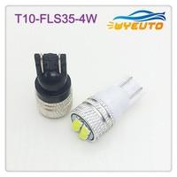 100pcs light bulbs for cars w5w LED high power T10 4W high power width light license plate light indoor light small lamp 12v