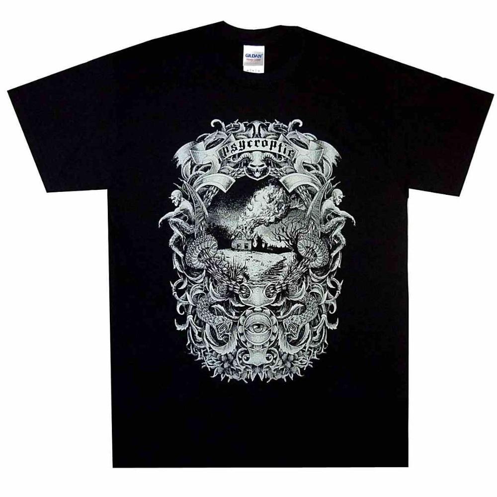 T-Shirt Summer Psycroptic Burning Tour Shirt S M L Official Tshirt Australian Metal T-Shirt New T-shirt Summer Tees
