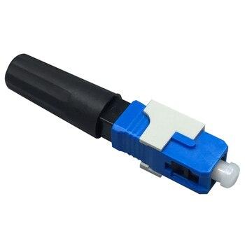100 piezas SC UPC fibra óptica conector rápido FTTH de fibra óptica de modo único conector rápido SC conector de montaje rápido