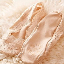 2019 Fashion Bamboo fiber Women Lace Socks Antiskid Invisible Liner Slipper Low Cut No Show Short Socks calcetines mujer #YL5(China)