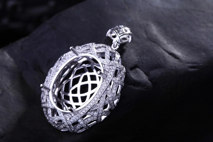 Caimao semi mount pendant oval cut settings 097 ct diamond 14k caimao semi mount pendant oval cut settings 097 ct diamond 14k white gold gemstone engagement fine jewelry in pendants from jewelry accessories on aloadofball Images