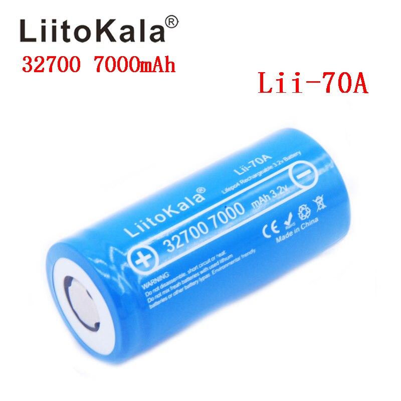 LiitoKala Lii-70A 32700 3.2 v 7000 mAh lifepo4 batterie rechargeable LiFePO4 5C batterie de décharge pour lampe de poche de secours