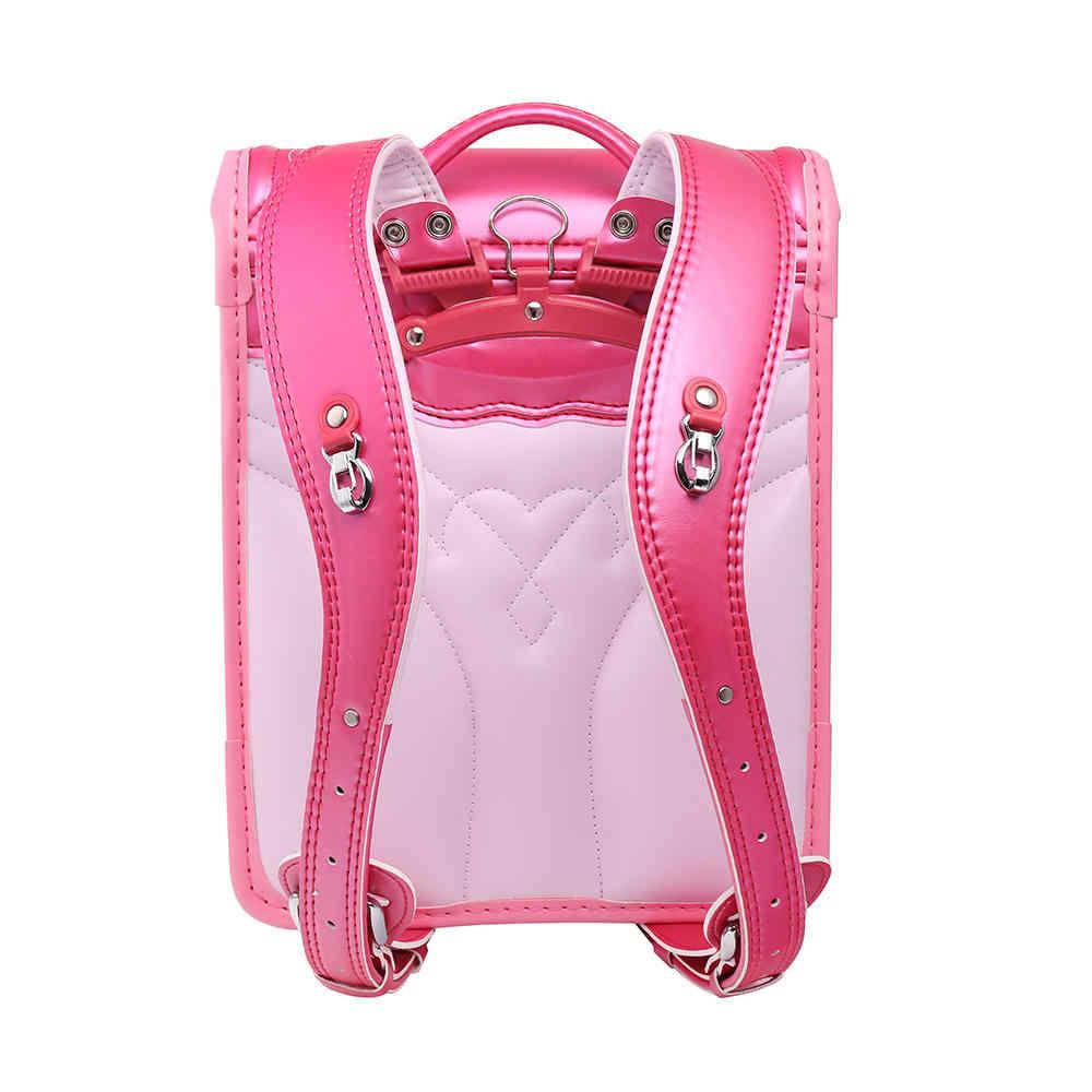 Colomb детская школьная сумка для девочек детский ортопедический рюкзак для школьников книжные сумки Япония PU рандосеру детские сумки Новинка